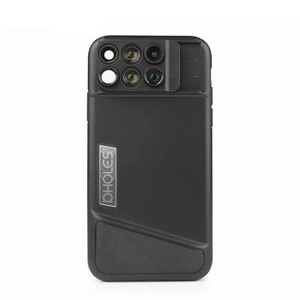 Image 5 - 8 Plus Dual Camera Lens For Apple iPhone X 8 Plus Telescope Lens Fisheye Wide Angle Macro Lens For iPhone 7 Plus Black