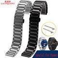 Laopijiang Huawei inteligente banda reloj pulsera de la correa correa de acero 21 * 18 mm negro acero color