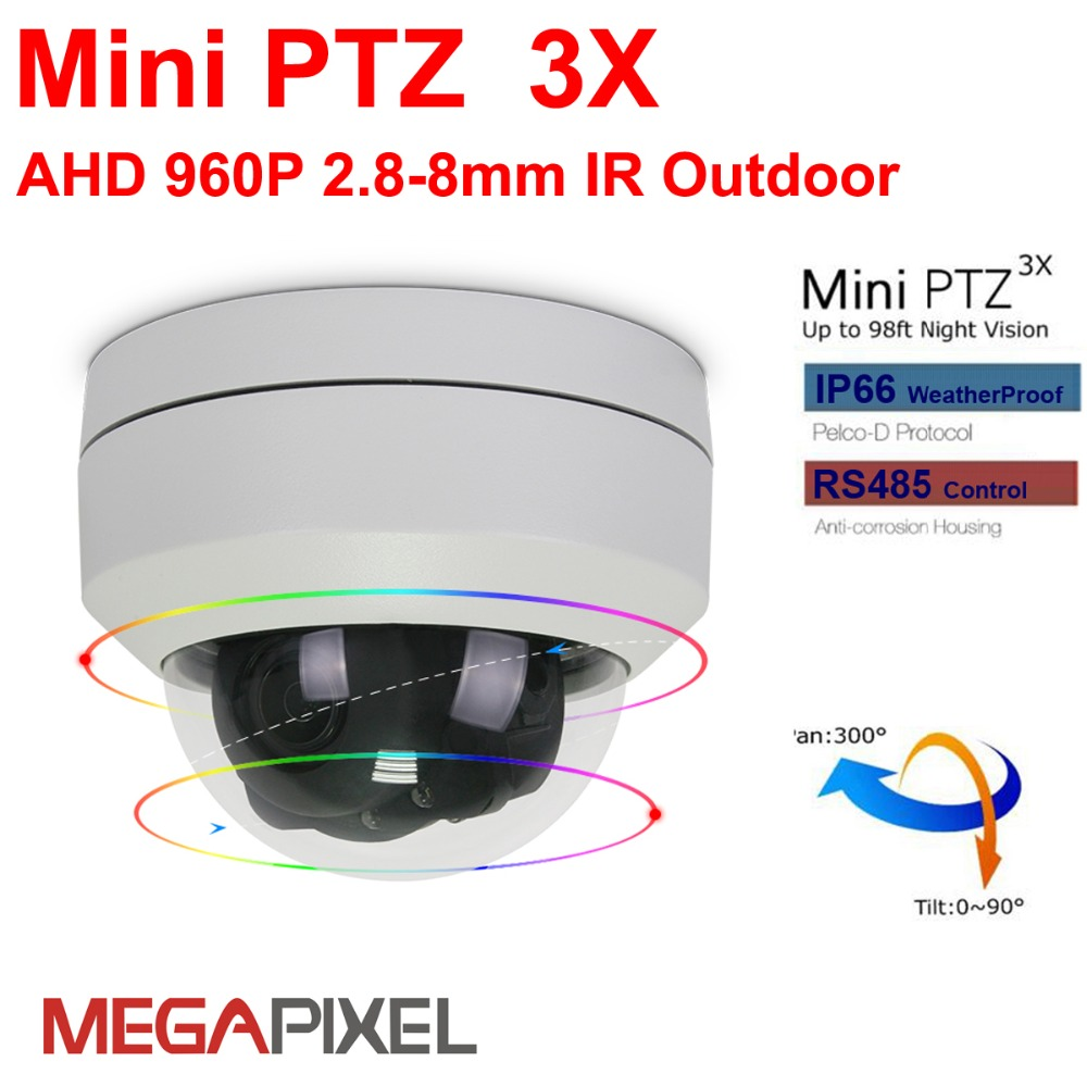 Megapixel AHD cctv video surveillance security outdoor mini ptz IR Dome Camera Motorized auto-focus 2.8-8mm 960P Pan Tilt ZoomMegapixel AHD cctv video surveillance security outdoor mini ptz IR Dome Camera Motorized auto-focus 2.8-8mm 960P Pan Tilt Zoom