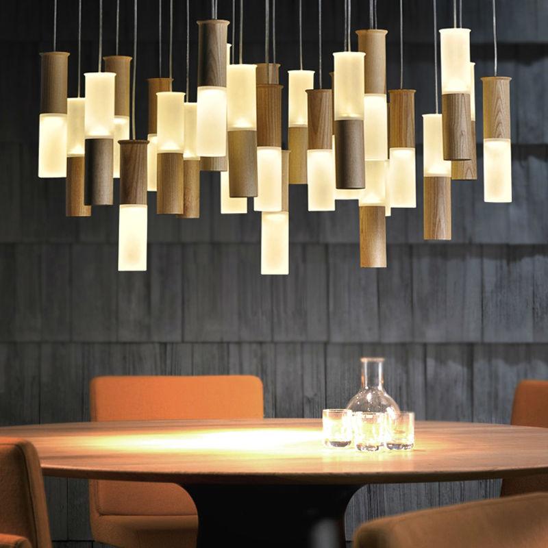 Modern pendant lights fixture for living room wood lamp - Modern lamp shades for living room ...