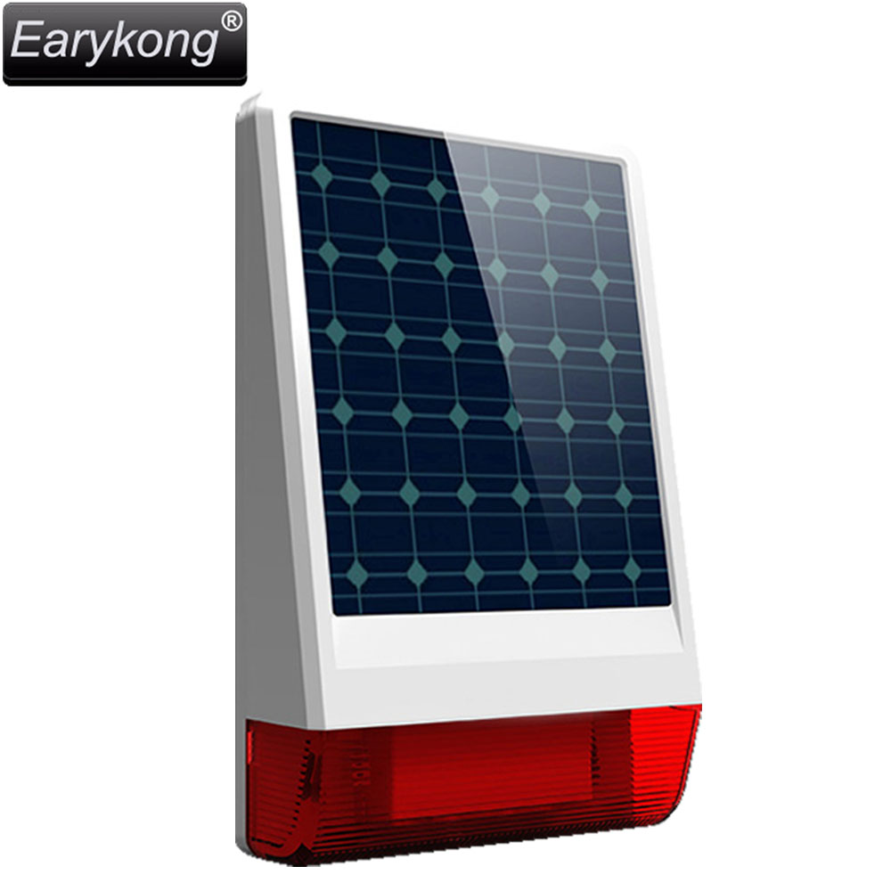 2017 New Free Shipping Solar Wireless Siren Flash 110dB Just For Our Alarm System 315MHz include Battery Popular all the world high quality solar spot alarm system kit 433mhz wireless outdoor siren with bright flash to make powerful warning