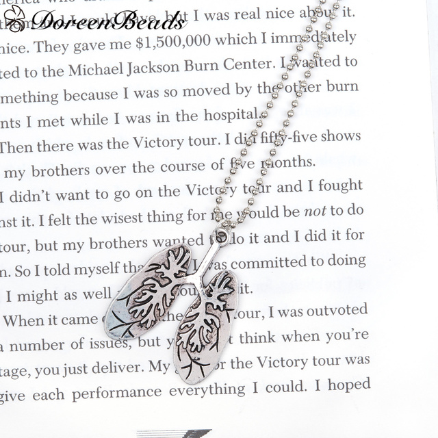 DoreenBeads Neue Mode Halskette Kugelkette antike silber farbe Lunge ...