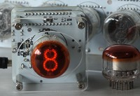 USB Single Nixie Clock A Red Glow Clock With A Large Head Shield