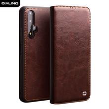 QIALINO роскошный флип чехол из натуральной кожи для Huawei Honor 20, чехол ручной работы со слотом для карты для Honor 20 Pro, 6,26 дюйма