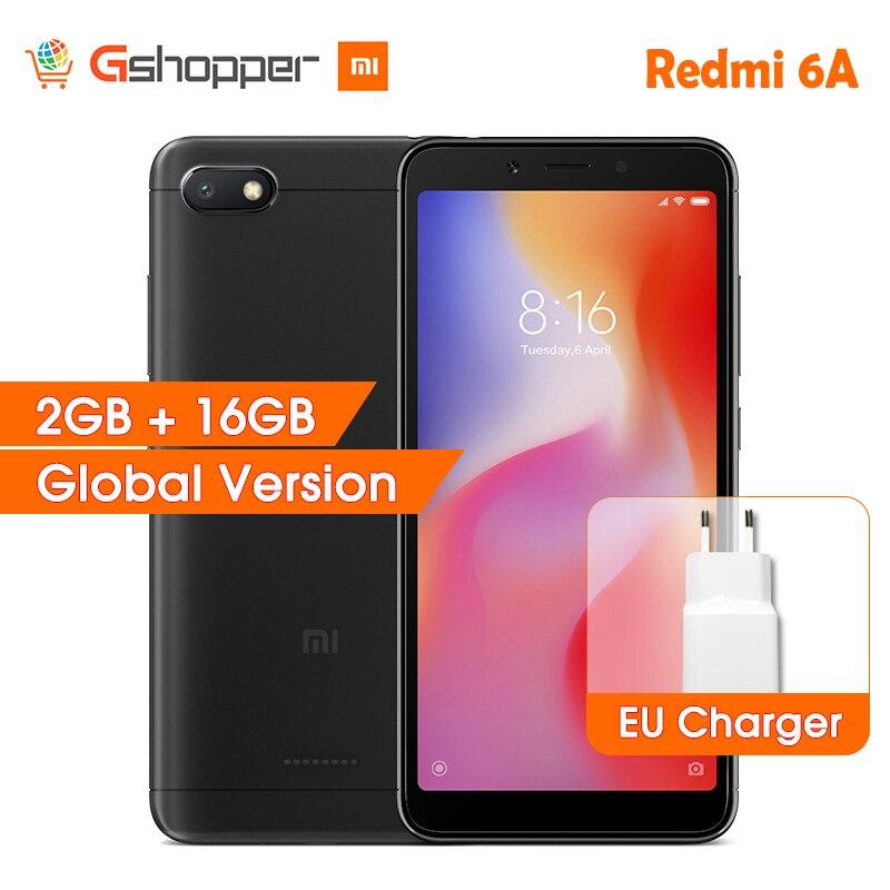 Global Version Xiaomi Redmi 6A 6 A 2GB RAM 16GB ROM Mobile Phone Helio A22 Quad