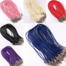 Застежкой омар выводы шнура подвески ожерелья кожаный цепи изделий ювелирных браслет
