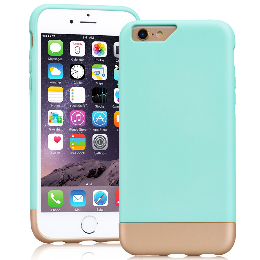 online store 5caae b087b Yokata Hard pc case for iPhone 6 6s Plus case Luxury case mint green ultra  thin Coque For iPhone 6 6s Plus Fundas 2 in 1 slim