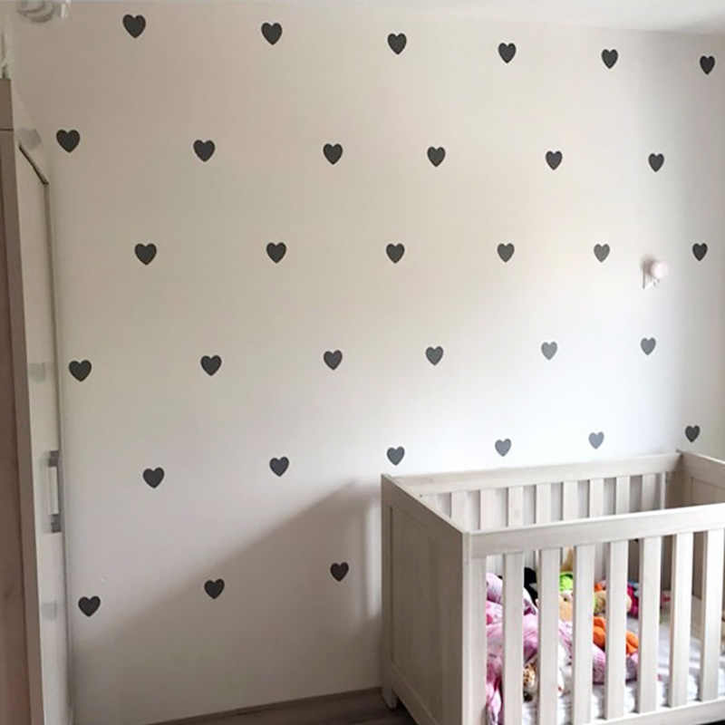 Heart Baby Room Decorative Stickers Girl Bedroom Wall Decal Stickers Children Wall Stickers Room Decoration Nursery Home Decor
