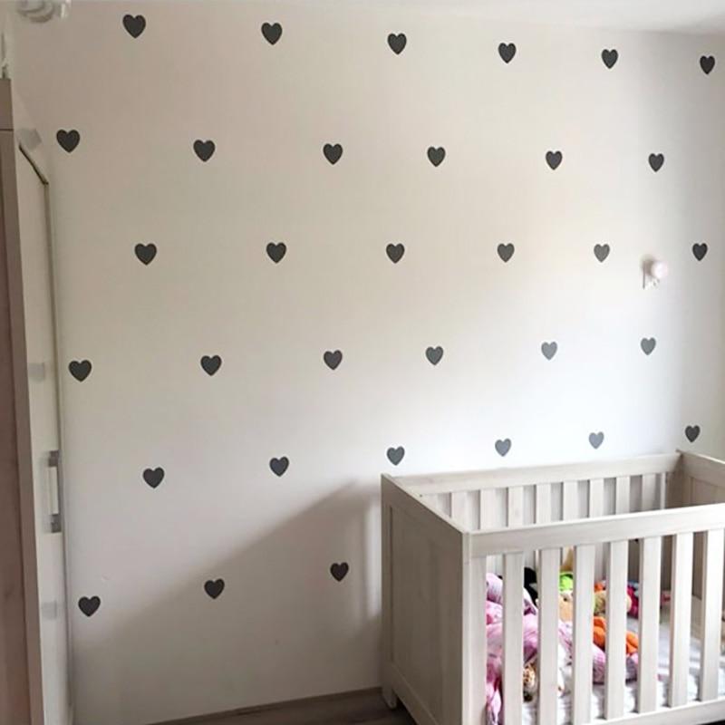 Heart Baby Room Decorative Stickers Girl Bedroom Wall Decal Stickers Children Wall Stickers Room Decoration Nursery Home Decor