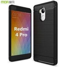 Редми 4 pro чехол Xiaomi Mi Редми 4 pro случае Xiaomi редми 4 случай MOFi оригинальный мягкий чехол коке капа funda силиконовые