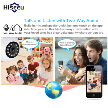Hiseeu 1080P IP Camera Wireless Home Security IP Camera Surveillance Camera Wifi Night Vision CCTV Camera Baby Monitor 1920*1080 1