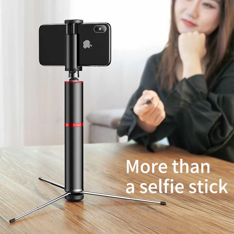 Baseus Bluetooth özçekim sopa taşınabilir el akıllı telefon kamera tripodu için kablosuz uzaktan ile iPhone Samsung Huawei Android
