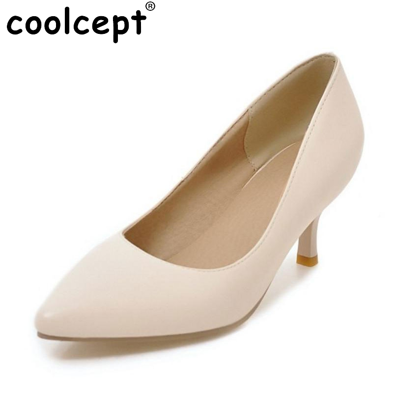 Size 32-43 New Arrival High Heels Shoes Women Sexy Pointed Toe Pumps Office lady Ladies Thin Heels Soft Slip-On Classic Footwear lady glitter high fashion designer brand bow soft flock plus size 43 leisure pointed toe flats square heels single shoes slip on