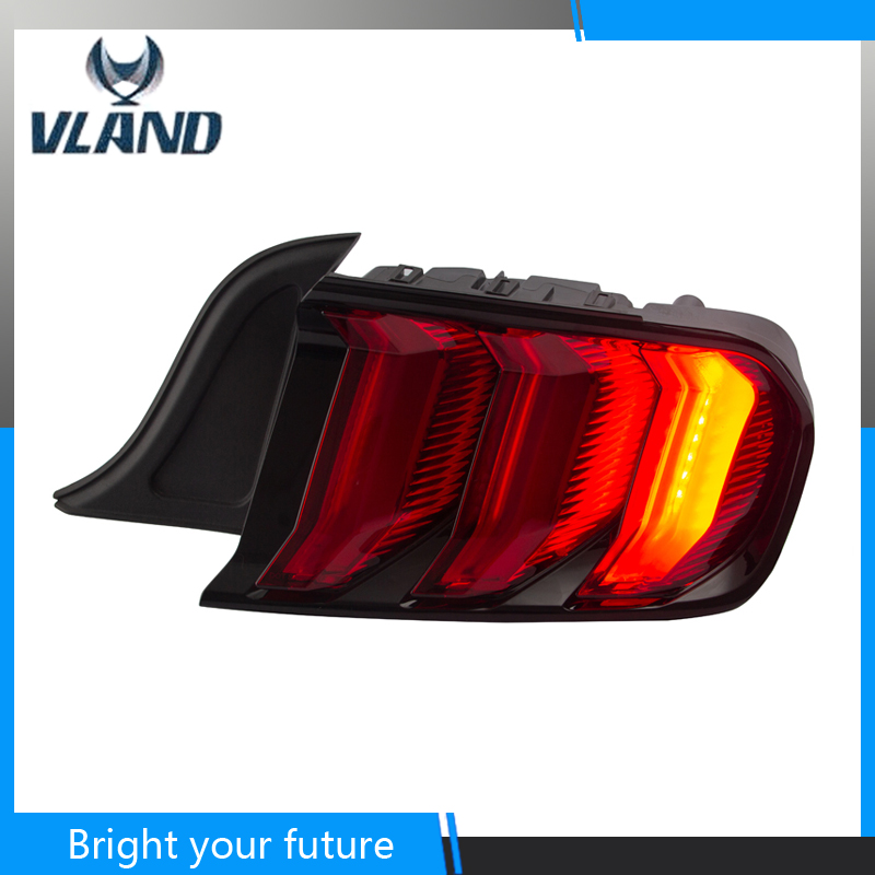Tail Lamp for Ford Mustang Tail Lights 2015 2019 Rear Light DRL+Streamer Turn Signal+Brake+Reverse LED light