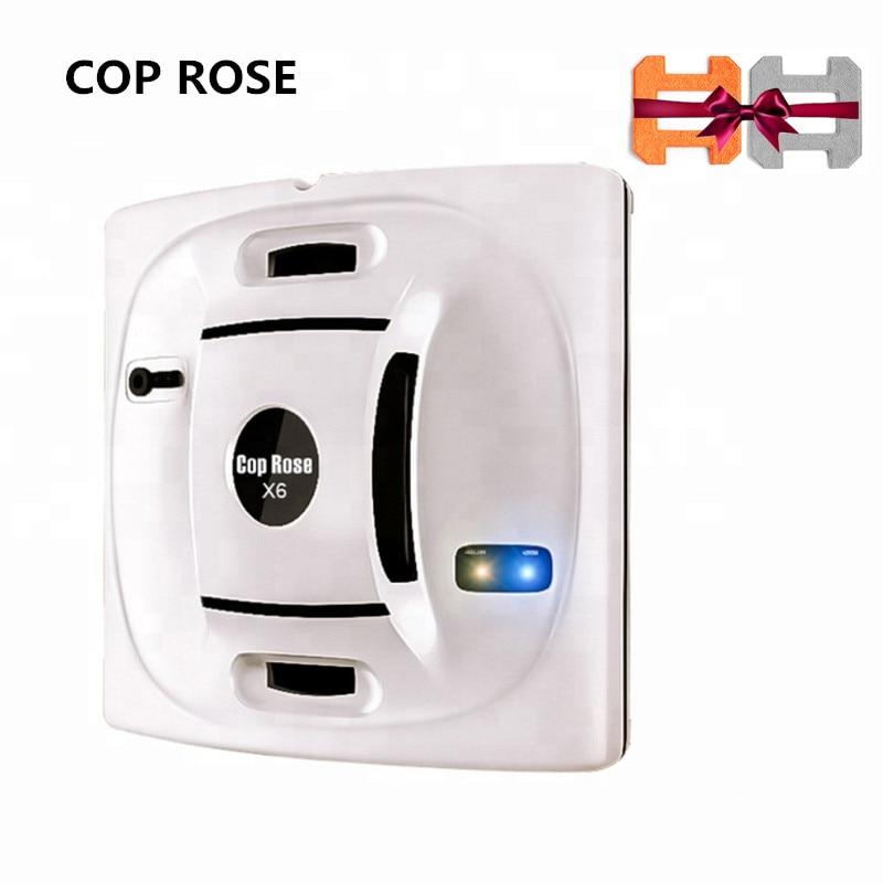 Cop rosa x6 janela robô de limpeza x6, aspirador magnético, anti-queda, controle remoto, lavagem de vidro automático, 3 modos de trabalho