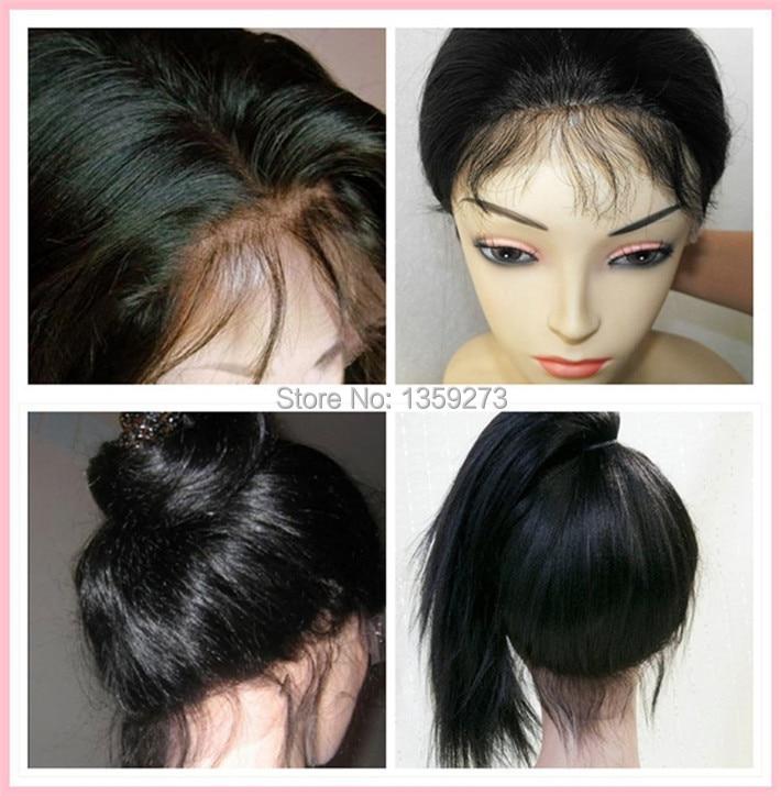 Light Yaki Human Hair Full Lace Wigs Brazilian Virgin Hair ...