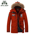 AFS JEEP Down Coat men Brand Clothing White Duck Down Jacket Men Fashion Fur Collar Thicken Warm Winter Jackets Mens Overcoat