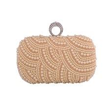 Perlen Frauen Abendtaschen Diamanten Fingerringe Kleinen Geldbeutel Tag Erfasst Handtaschen Schwarz/weiß/Champagner Perle Hochzeit Taschen