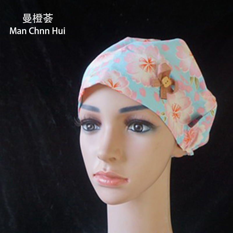 New Arrival Surgery Caps High Quality Color Cat Medical Cap 100% Cotton Gourd Hat Upscale Beauty Salon Doctor Nurse Flower Hat Accessories Novelty & Special Use