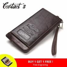 2018 font b Men b font font b Wallet b font Clutch Genuine Leather Brand Rfid