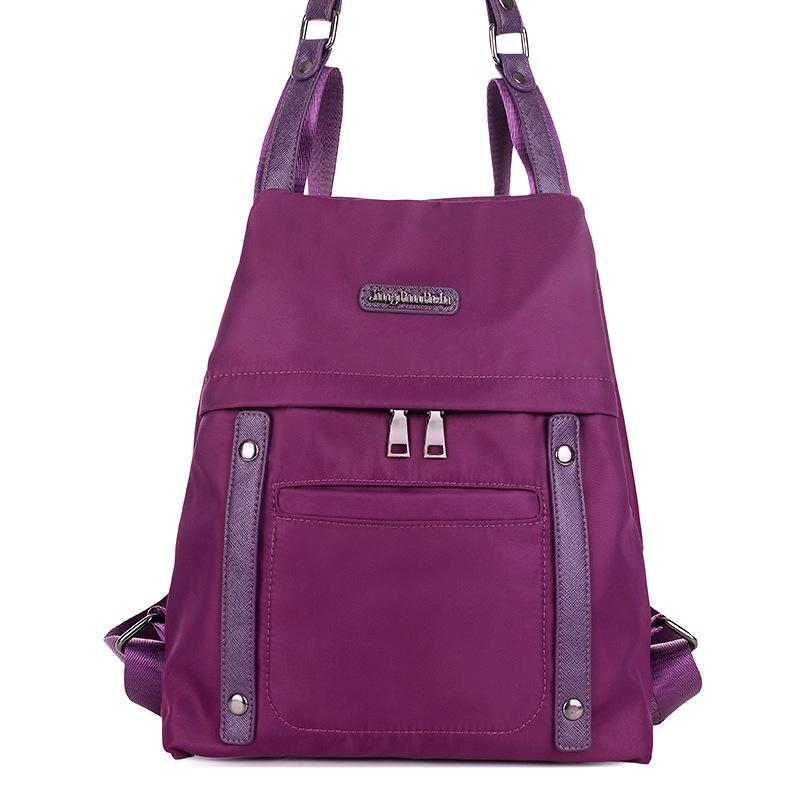 Fashion women backpack light weight oxford backpack solid casual girl school bag small travel bags