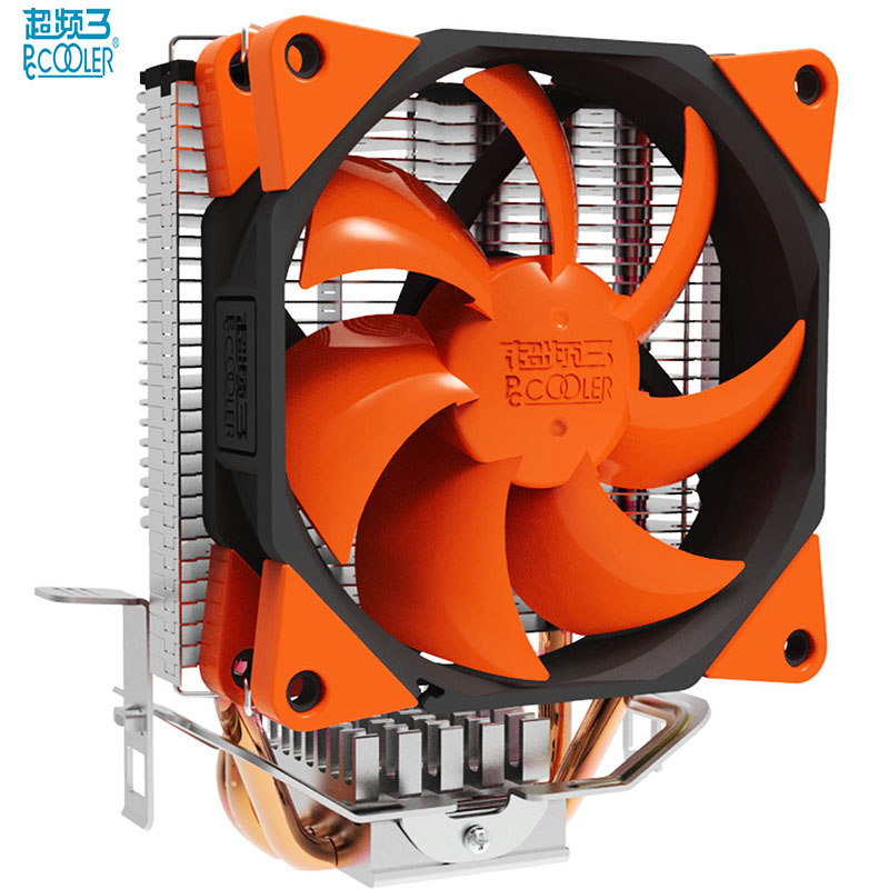 PcCooler S97 cpu cooler 90mm 4 pin PWM fan 3 puro rame heatpipe for Intel 775 1151 1155 1150 1156 for AMD AM4 AM3 AM2 AM2+ FM1 4 heatpipe 130w red cpu cooler 3 pin fan heatsink for intel lga2011 amd am2 754 l059 new hot