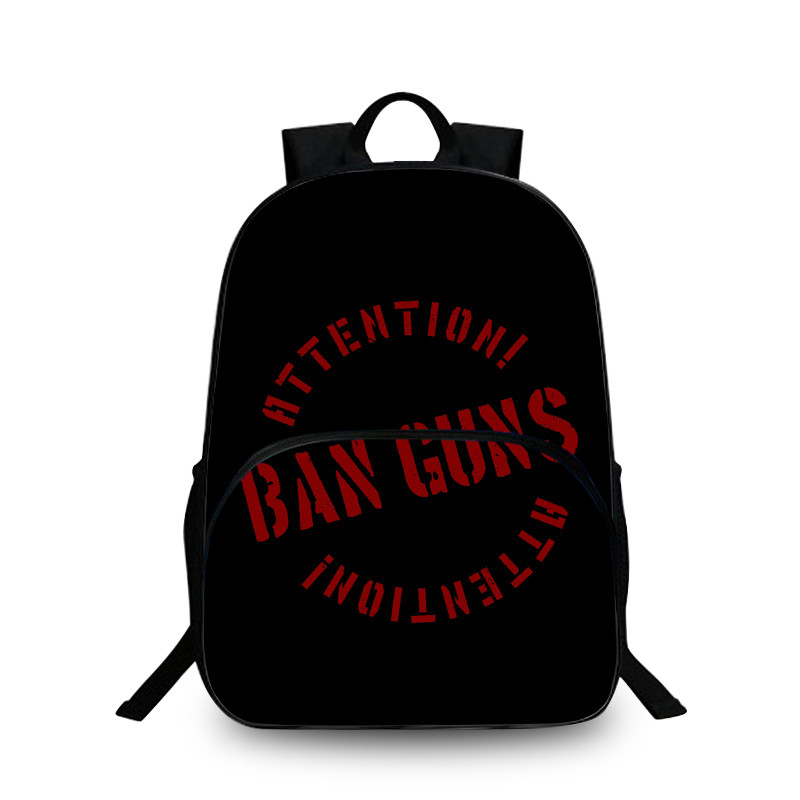 BAOBEIKU Children Backpack School Girls BAN GUNS print Laptop Backpacks for Teenager Student Campus Back Pack Mochila Kids