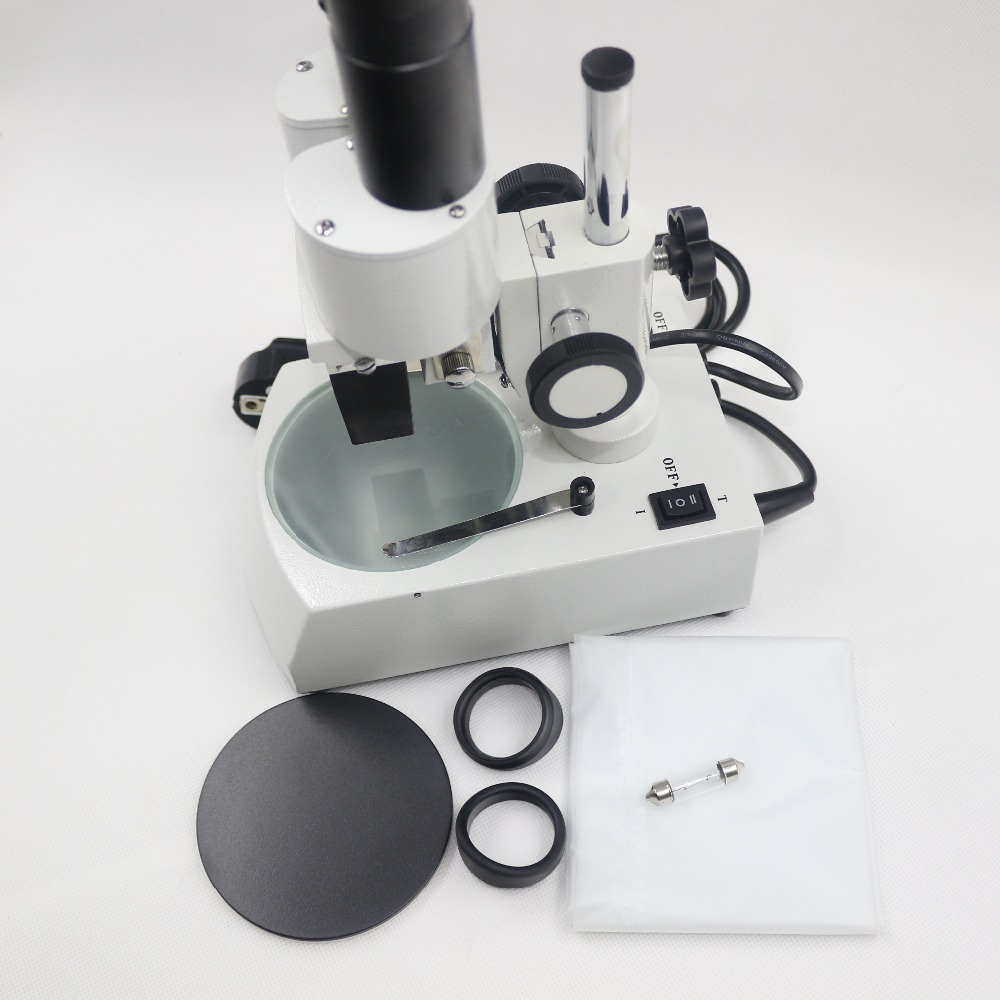 T1C 20X Binocular Stereo Microscope with Top and Bottom Light for Repair Dissection student s learning tool junior education 20x binocular stereo microscope with top led light for repair dissection identification