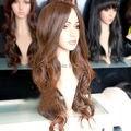 Wholesale price >>HE-J0201 BEAUTIFUL SEXY WOMEN S LONG BROWN MIXED CURL HAIR WIG