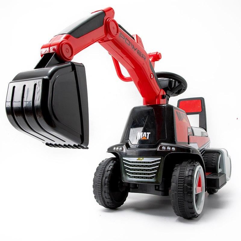 Abdo Children's Excavator Machine Toy Stroller Push Car Can Sit Large Excavator Boy Toy Car Engineering Truck Bulldozer Car Toy