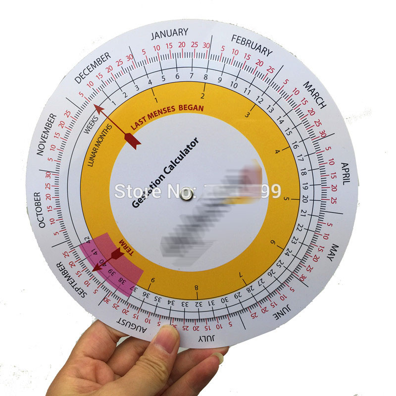 Pocket Pregnancy Calculator Wheel Gestation Calculator Obstetric Wheel A-130