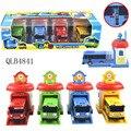 4 шт./компл. макет тайо маленький автобус дети миниатюрный автобус пластиковые ребенка oyuncak гараж tayo автобус детские игрушки Рождество подарок