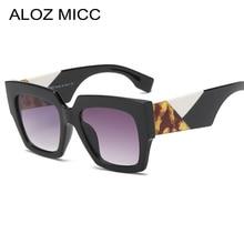 цена на ALOZ MICC Square Sunglasses Women 2019 Brand Designer Retro Acetate Frame Sunglasses Men Black White Eyewear UV400 Q391