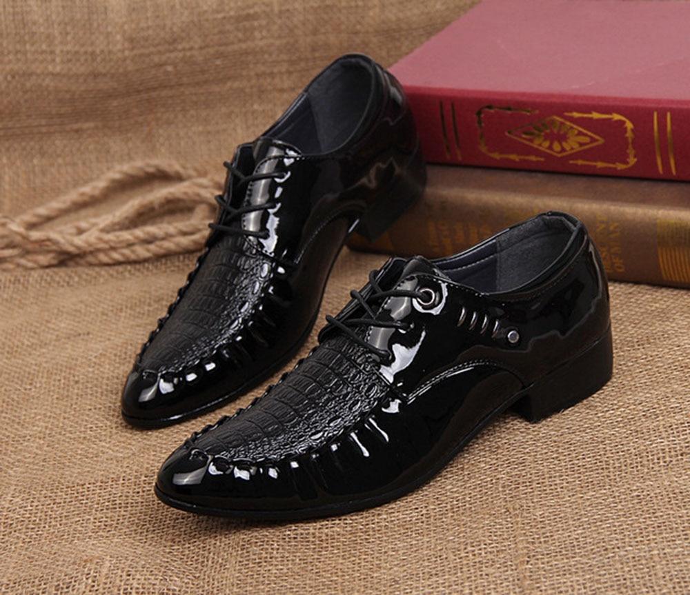 Printemps Confortable Coréen Hommes Cuir Beau porter Bout Et Chaussures Pointu Noir Version À Casual Automne En De Dur Nouveau Pz8PwnqRr