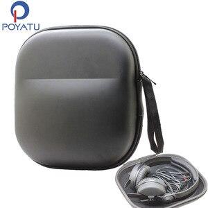 Image 1 - POYATU אוזניות Case תיק עבור Sennheiser HD25 HD25 1 השני HD25 SP HME45 HMD25 HME25 HMEC25 HMEC45 אוזניות מארז תיבת כיסוי אחסון