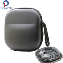 POYATU etui na słuchawki torba dla Sennheiser HD25 HD25 1 II HD25 SP HMD25 HME25 HMEC25 HME45 HMEC45 etui na słuchawki Box zakryte przechowywanie