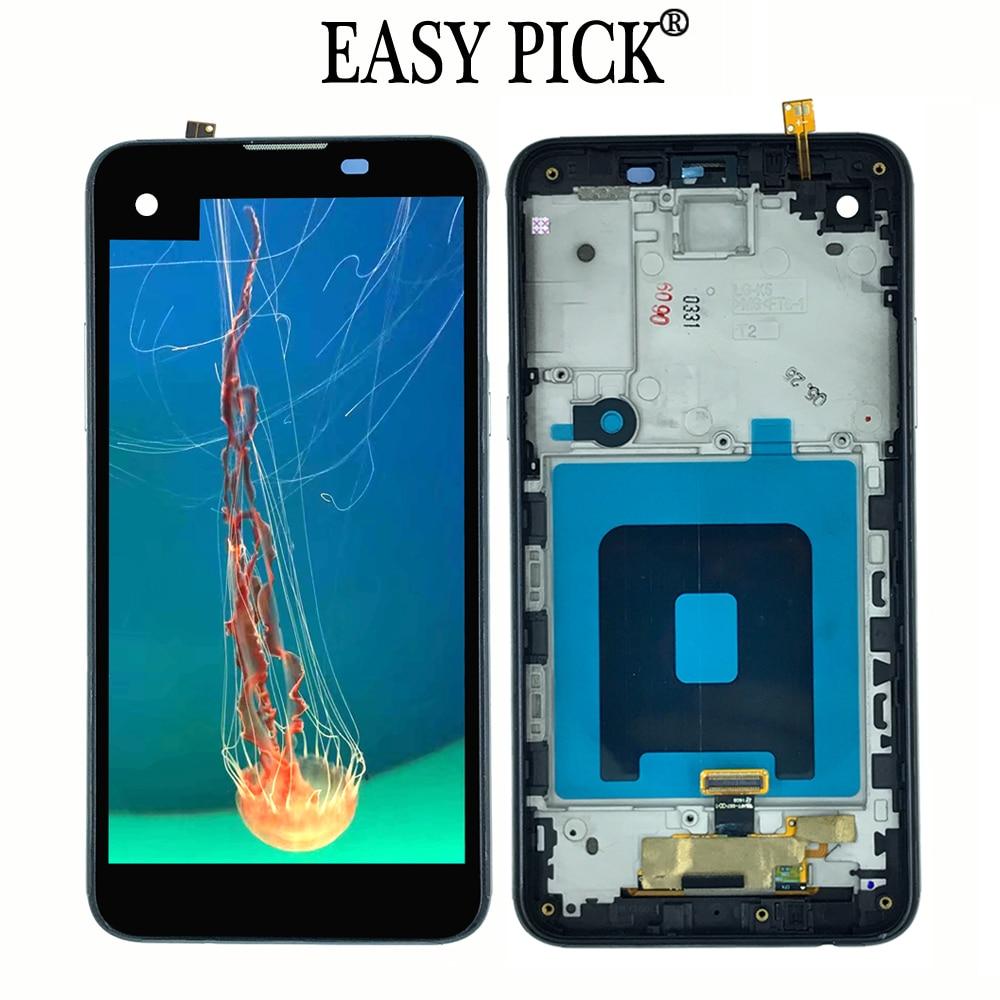 Сборка сенсорного экрана ЖК-дисплея и цифрового преобразователя с рамкой для LG X Экран X view K500 K500DS K500N