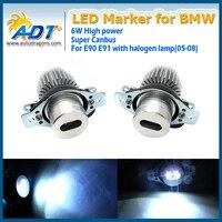 High Power 6W No OCB error car LED Headlight Marker for BMW E90LCI E91LCI Canbus LED Cr Angel Eye Halo Light