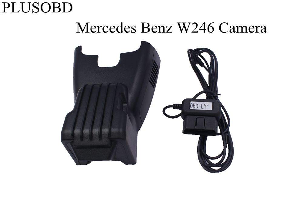 PLUSOBD Dedicated Dash Cam For Mercedes Benz W246 2013-2016 Wifi Hidden DVR Vehicle Camera Manufacturer HD 1080P+OBD2 Adapter plusobd wifi car dvr recorder for mercedes benz glk x204 2009 15 dash cam black box sony 322 with aluminium alloy and obd2