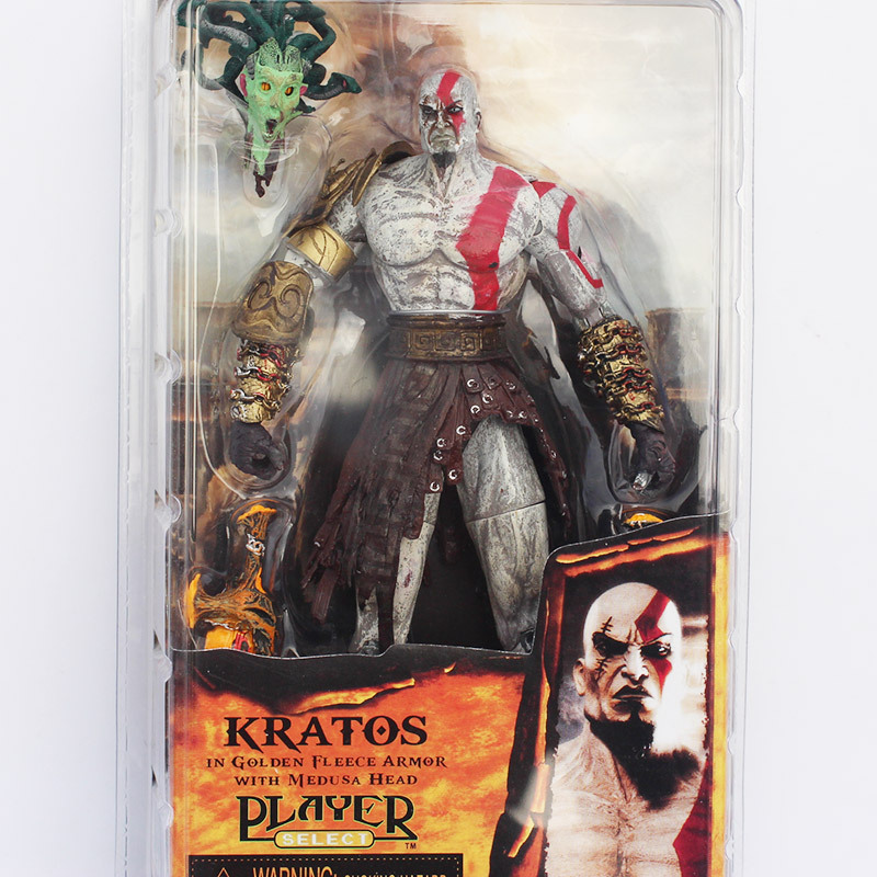 NECA God of War Kratos in Golden Fleece Armor with Medusa Head 7.5 PVC Action Figure Model Toy Free Shipping
