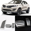 Brand New 3pcs Aluminium Non Slip Foot Rest Fuel Gas Brake Pedal Cover For Lincoln MKC AT 2013-2016
