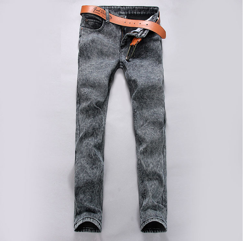 Fashion Men Korean Style Jeans 2017 Stretch Male Clothing Pencil Pants Black Long Denim Trousers  Straight Jeans Males Z20