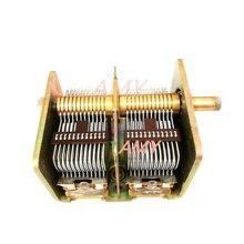 CBL 2 * 365PF الهواء المزدوج متغير مكثف 711 الإلكترونية أنبوب ضوء أحمر راديو