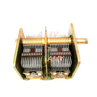 Free Shipping CBL 2 365PF Air Dual Variable Capacitor 711 Electronic Tube Red Light Radio