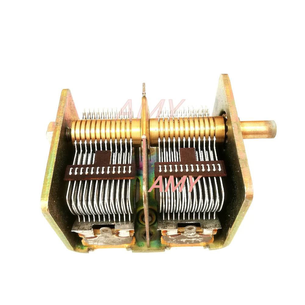 CBL-2*365PF Air Dual Variable Capacitor 711 Electronic Tube Red Light Radio