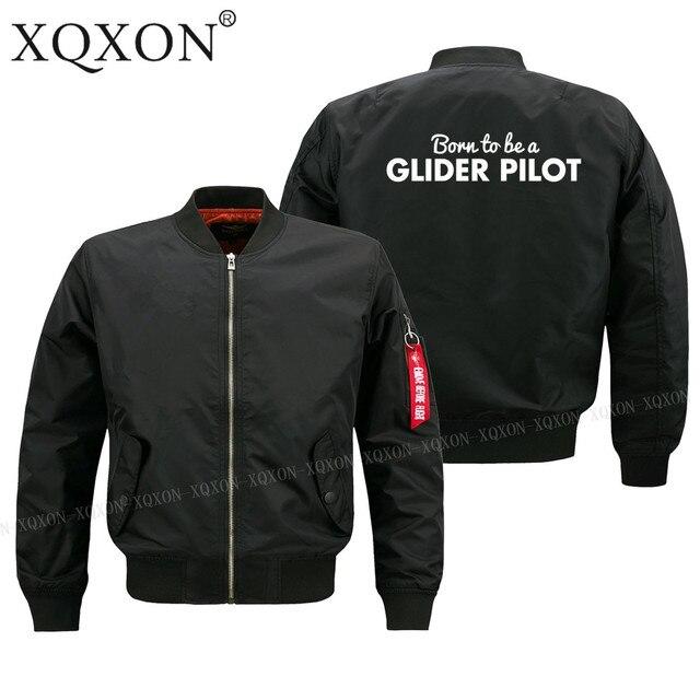 XQXON-nasceu para ser um piloto de planador melhor presente de aniversário homem Casacos Jaquetas jaqueta piloto homens plus size S-6XL J211