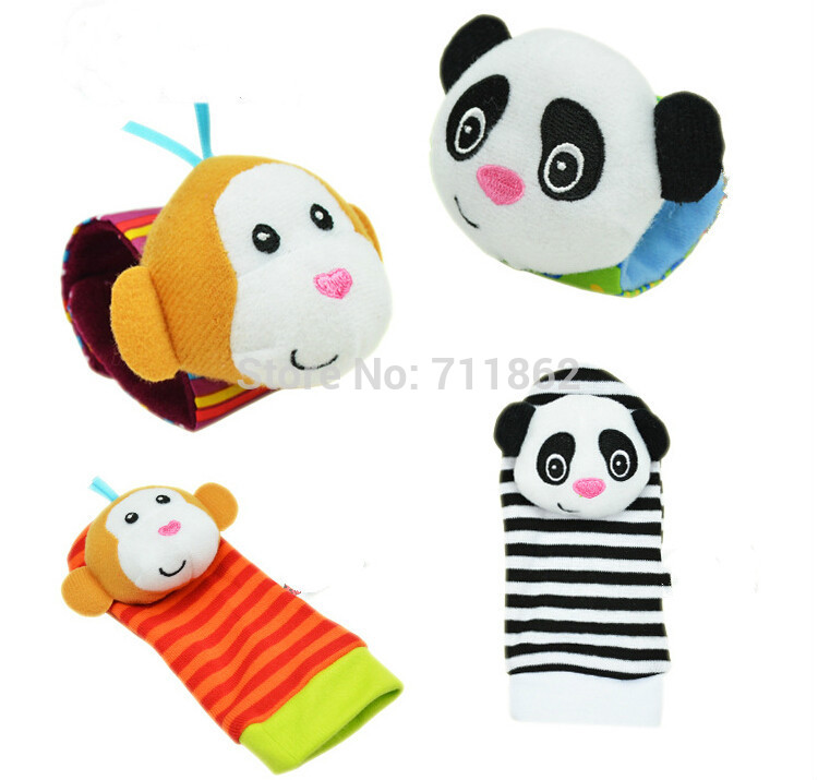 Sozzy-4pcs2pcs-waist-2pcs-socks-Infant-Baby-Kids-Sock-rattle-toys-Wrist-Rattle-and-Foot-Socks-024-Months-10-off-4