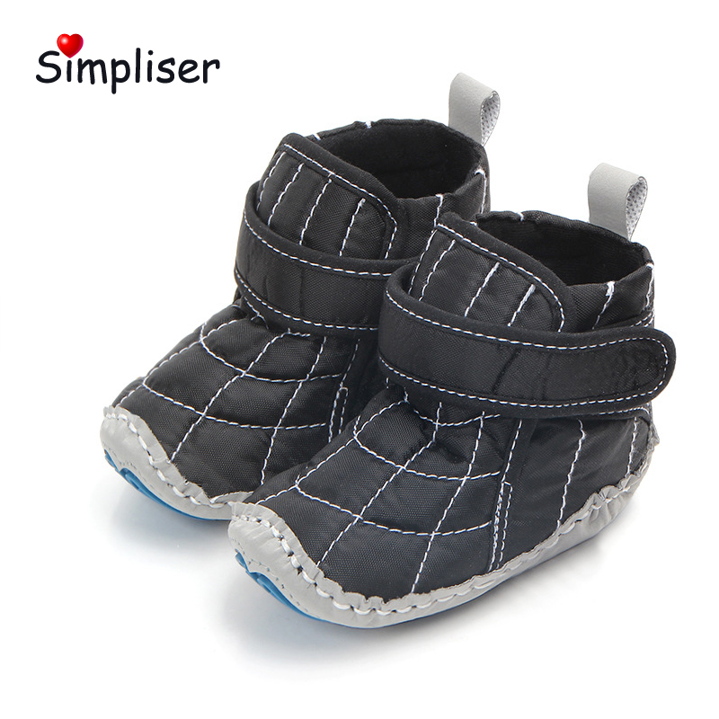 Baby Shoes 2018 Autumn Winter Velcro Boots For Baby Girls Boys Anti-slip Bebe First Walk ...
