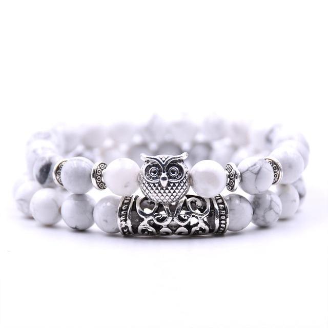 Natural stone animal owl  bracelets For Women Men Cool hot Selling 2