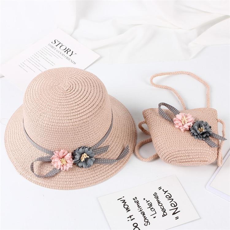 sol para meninas, viseira e chapéu de palha